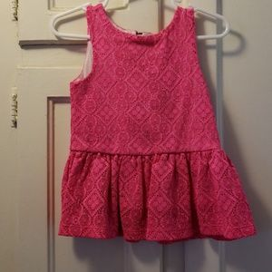 2T Pink Sleeveless Top